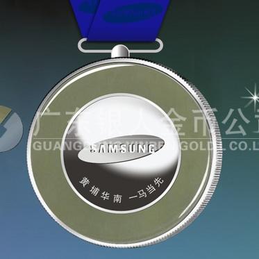 2014年4月:万博体育app官方下载 三星华南公司 万博体育app官方下载纯银镶玉纪念奖牌