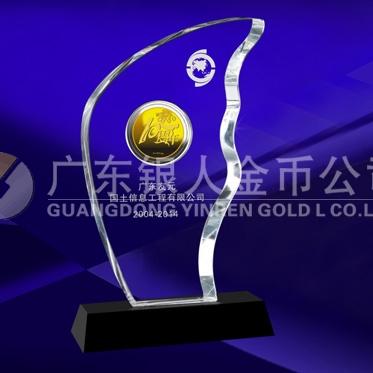 2014年5月:广东友元万博体育app官方下载金币镶水晶订制金币铸造金币