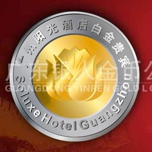 2011年6月   广州阳光酒店纯金徽章万博体育app官方下载,纯银徽章定做