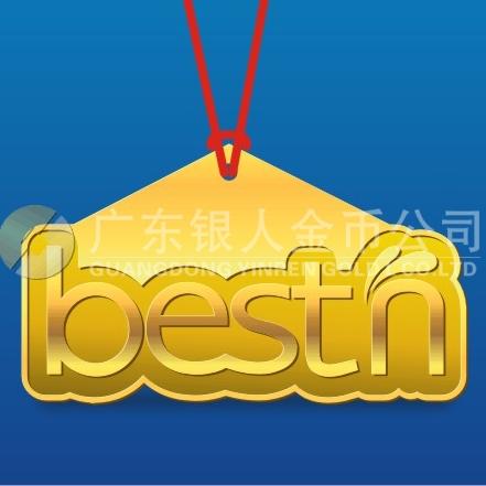 2013年11月广东百斯盾公司纯金千足金黄金纪念金牌万博体育app官方下载