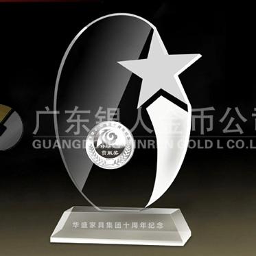 2014年3月:中山市华盛家具集团十周年制作纯银万博maxbet客户端下载镶水晶