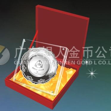 2014年11月:制做深圳金溢科技股份上市公司纪念银盘制作