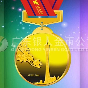 2015年1月:广州新电视塔小蛮腰纯金奖牌制造万博体育app官方下载千足金奖牌