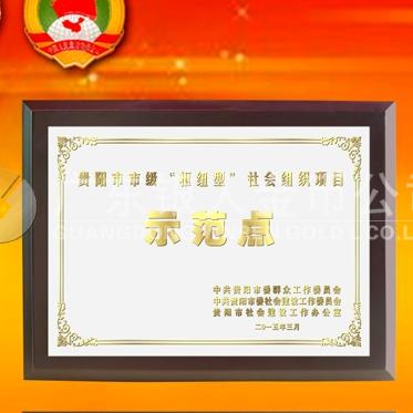 2015年3月:中共贵阳市委表彰先进奖牌高档钛金奖牌万博体育app官方下载
