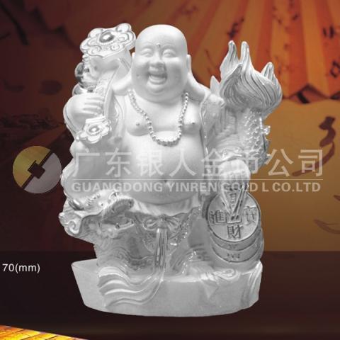 盘龙佛纯银摆件、纯银佛像、纯银佛教用品佛教礼品