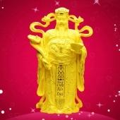 纯金财神摆件万博体育app官方下载、绒沙金财神工艺品摆件定做批发