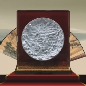 八仙过海纯银银盘/纯银碟/纯银圆盘/纯银纪念盘