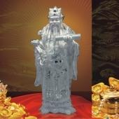 禄星纯银摆件、纯银禄星降临、禄星纯银工艺品摆件