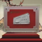 高楼大厦地标建筑写字楼酒店模型纯银摆件屏风