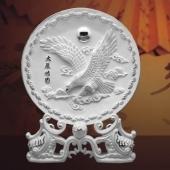 大展鸿图纯银银盘定做、订制纯银纪念盘、订做纪念银盘