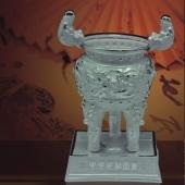 中华世纪宝鼎纯银礼品加工厂家生产制造纯银礼品