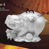 五福如意猪纯银制品